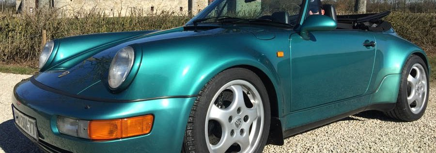 Importation Porsche occasion 964 turbo look cabriolet