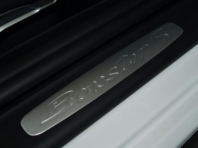 Baguettes de seuil de porte avec inscription Boxster S