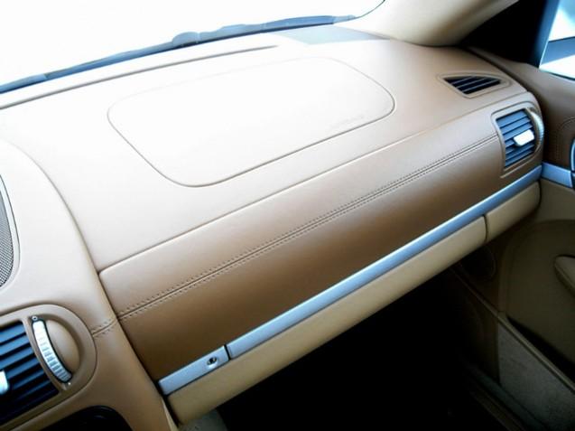 Car Design TP Porte-cl/és en cuir pour voiture de Porsche 911 Panama Cayenne Noir