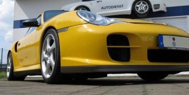 Photo prises d'air latérale Porsche 996 GT2 Jaune Vitesse 483 cv