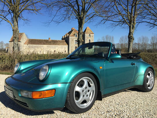 Vente Porsche 911 type 964 turbo look usine cab